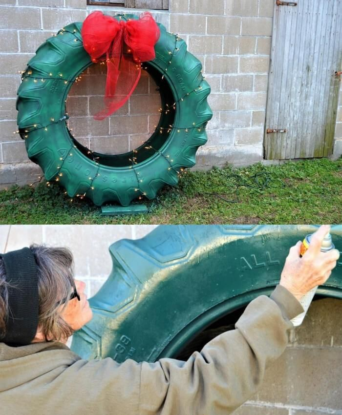 Christmas 2020 Tire Deals 13 Best Recycled Tire Christmas Decoration Ideas in 2020   Diy