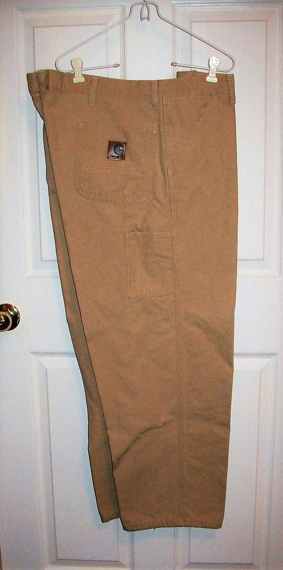 Vintage Men's Tan Carpenter Work Pants by Carhartt Size 46 x 30 Only 15 USD by SusOriginals on Etsy