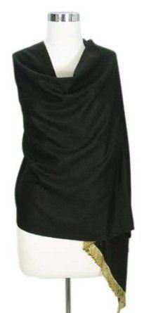 Wool and silk shawl, 'Midnight Glitter' NOVICA. $82.95