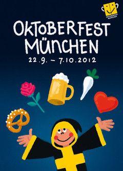 Das offizielle Plakat zur Wiesn 2012.