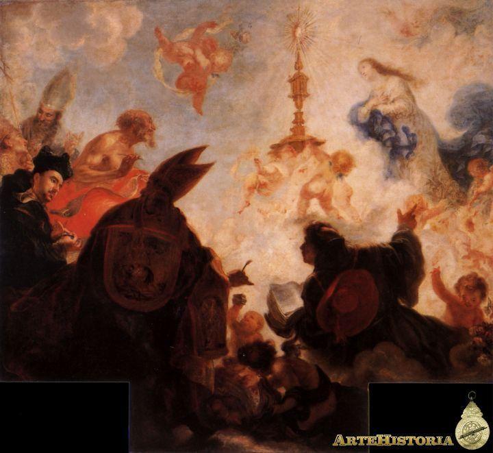En 1655 encontramos a #FranciscodeHerreraelMozo en Sevilla pintando el #TriunfodelSacramento para @SICSevilla