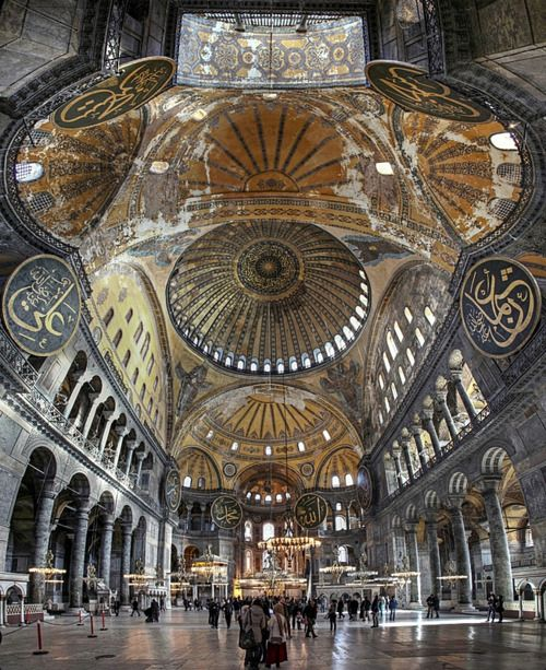 lovetimes13:    ileftmyheartinistanbul:    Interior of Hagia Sophia /Istanbul    Beautiful!