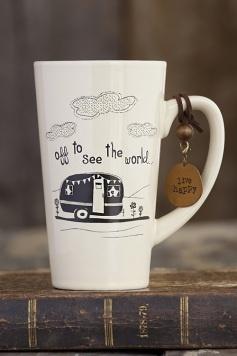 Vintage camper tall mug...want this