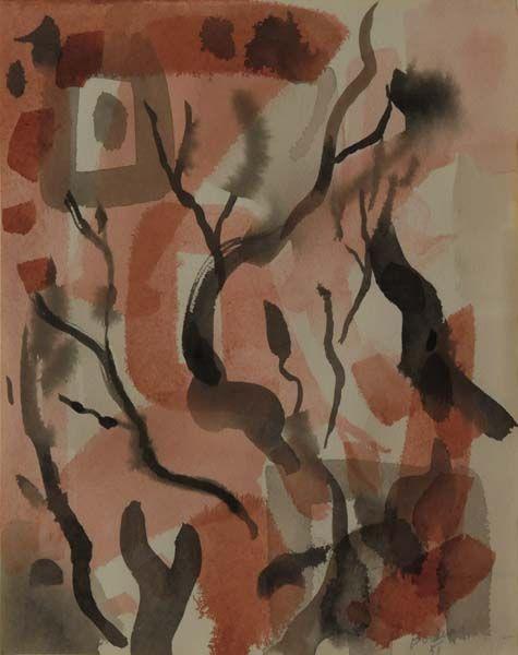 Paul-Émile BORDUAS - La plante héroïque (1951). Follow the biggest painting board on Pinterest: www.pinterest.com/atelierbeauvoir