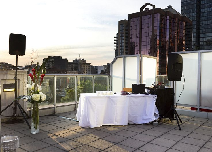 7th Floor Terrace Set up