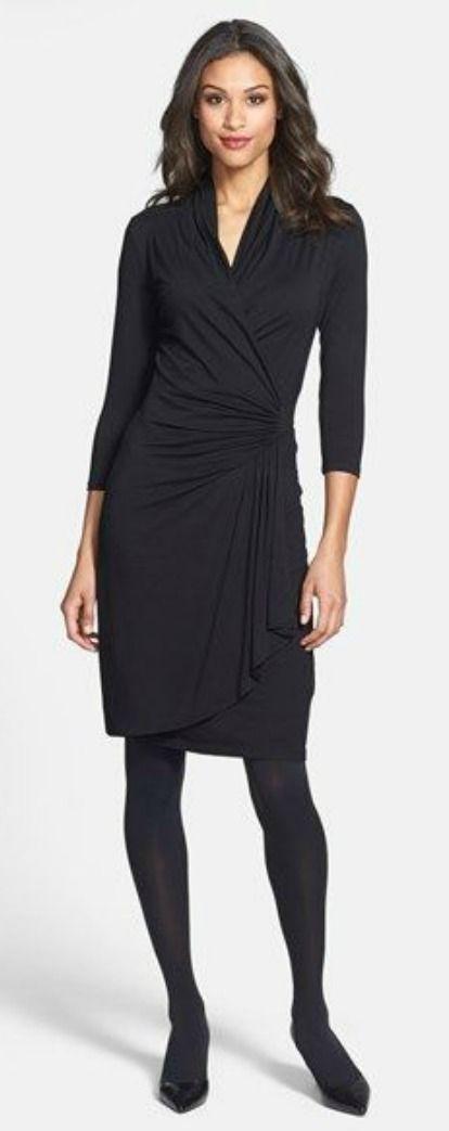 best 25  black wrap dresses ideas on pinterest