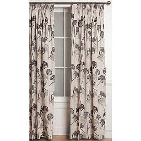 Living & Co Curtains Agapantha Espresso Extra Large 205cm Drop - Living & Co - Curtains - Curtains & Blinds - The Warehouse