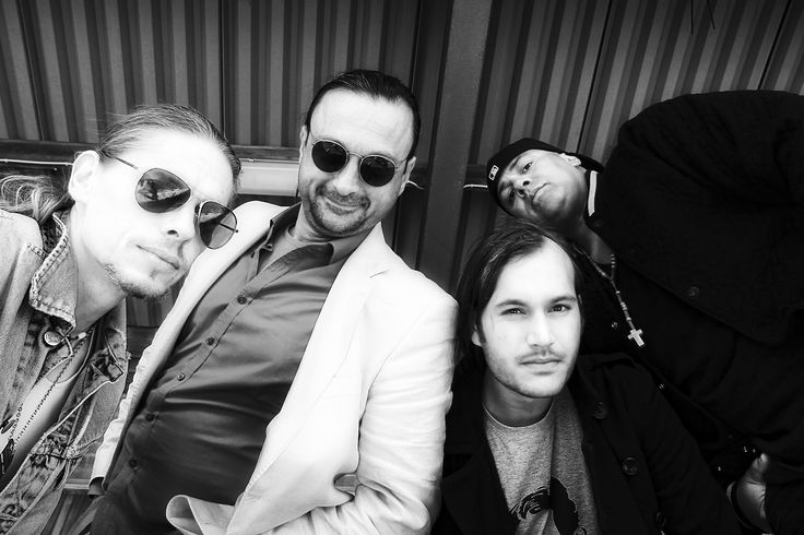 Portrait of Stockholm based urban rock and soul collective Frank Ernest. From left to right: C1, Neb Malicious, Grooveya and Chak la Rock. Photo by Manya Seisay. ©2016 Frank Ernest Products KB, All rights reserved.