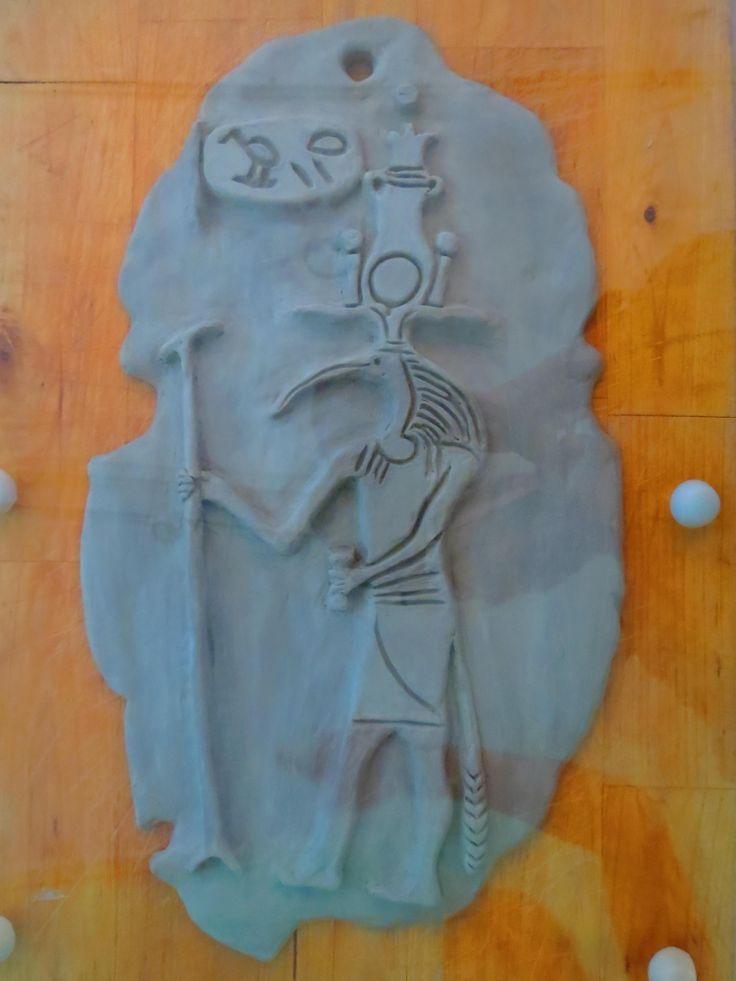 5th grade pupil's artwork on ancient Egypt