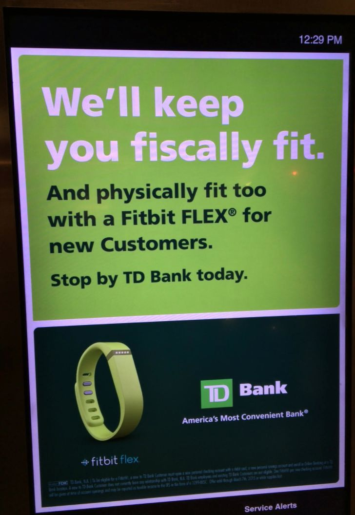 TD Bank offers #freebies Fitbit FLEX with new checking and savings accounts. #healthylifestyle #healthtracking