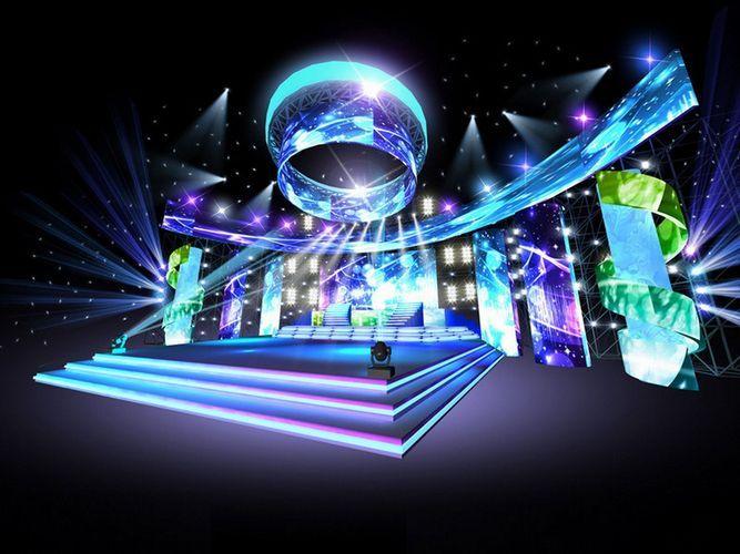 concert stage design 16 3d model