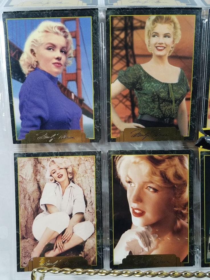 Marilyn Monroe collector cards
