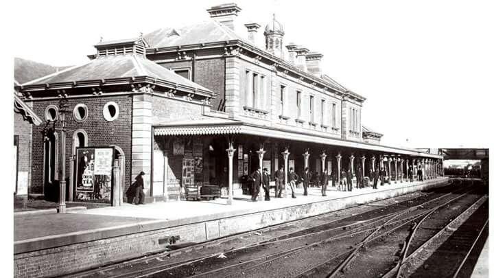 Newcastle Railway Station circa 1890.