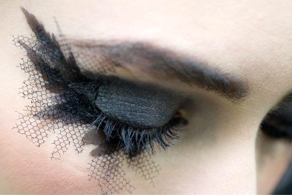 Fishnet eyelashes by Chanel