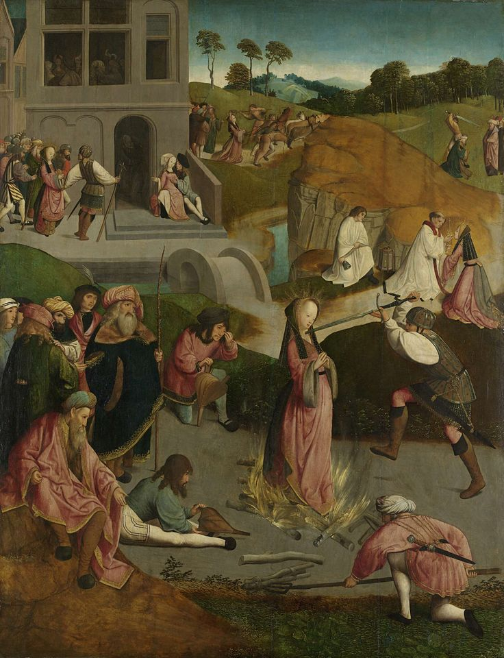 The Martyrdom of Saint Lucy, Meester van de Kruisafneming van Figdor, c. 1505 - c. 1510