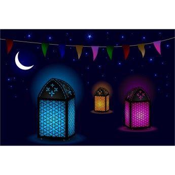 free vector Ramadan Beautiful Midnight Background