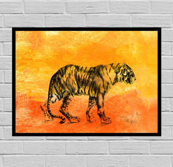 Antique Tiger print, Watercolor Paper, Vintage Tiger Art, Tiger poster, Vintage Tiger Art, Bat Print, Watercolor print, Tiger print W01 by STANLEYprintHOUSE  3.00 USD  This poster is printed using high quality archival inks, and will be of museum quality. Any of these posters will make a great affordable gift, or tie any room together.  Please choose between different sizes.  The posters are shipped in mailing tubes via USPS First Class mail. All i ..  https://www.etsy.com/ca/listi..