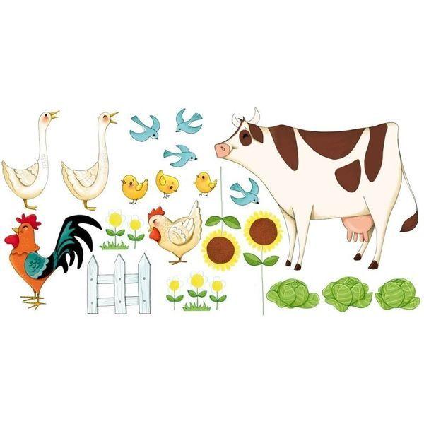 Ce stickers animaux de la ferme enchantera la chambre de vos enfants. Ce stickers mural pour enfants est facile à poser et à décoller, il est repositionnable et ne laisse pas de trace.