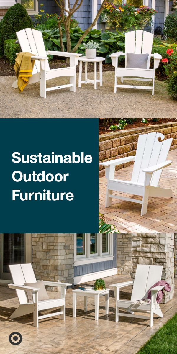 Our Sustainable Outdoor Furniture Is Made With Genuine Polywood Lumber A Propriety Material Which Polywood Outdoor Furniture Target Outdoor Furniture Backyard