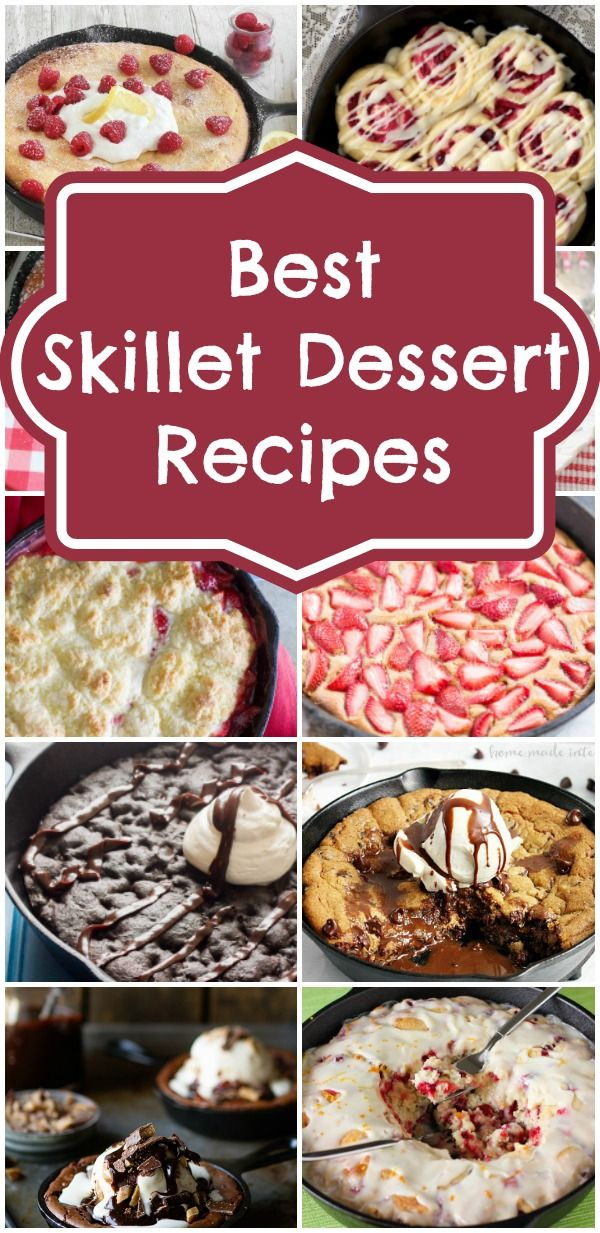 Best Skillet Dessert Recipes via Pretty My Party