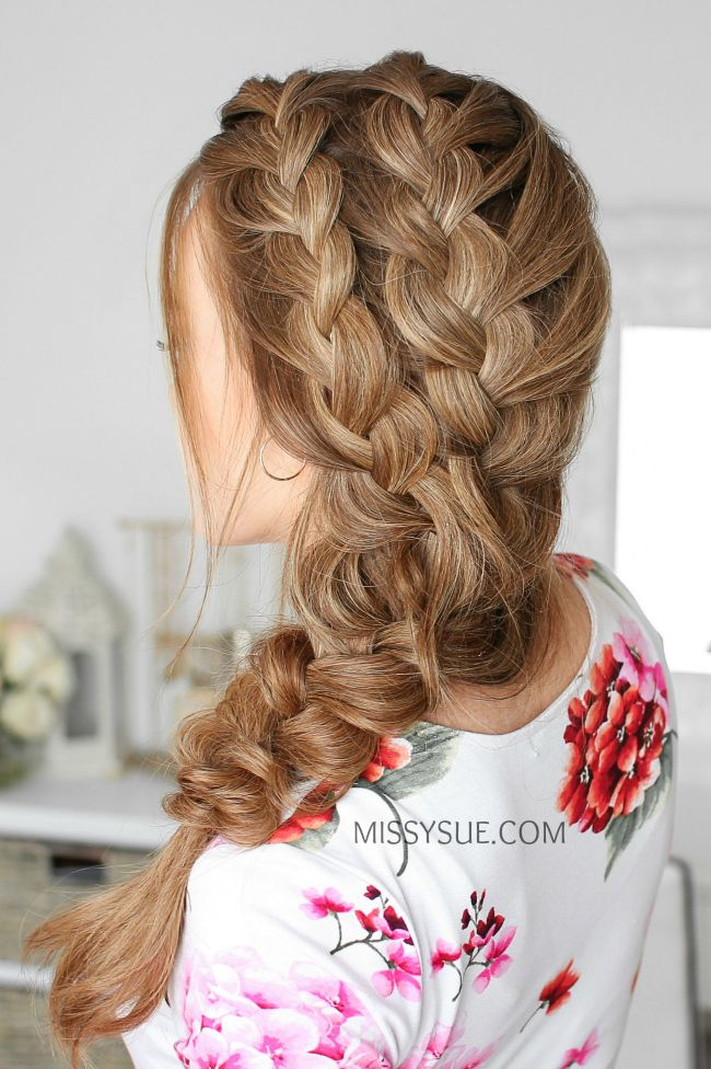 Double Side French Braids Missy Sue Side French Braids Hair Styles Long Hair Styles