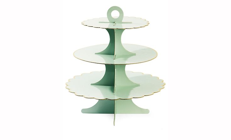 Miss Etoile Cardboard Cake Stand - Mint