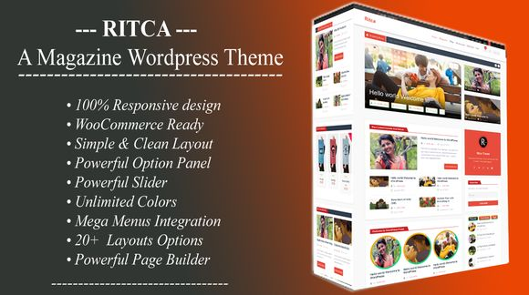 Ritca Blog Magazine WordPress Theme by ritcatheme on Creative Market