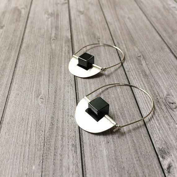 Sterling silver hoop earrings  drop and dangle  by carlaamaro