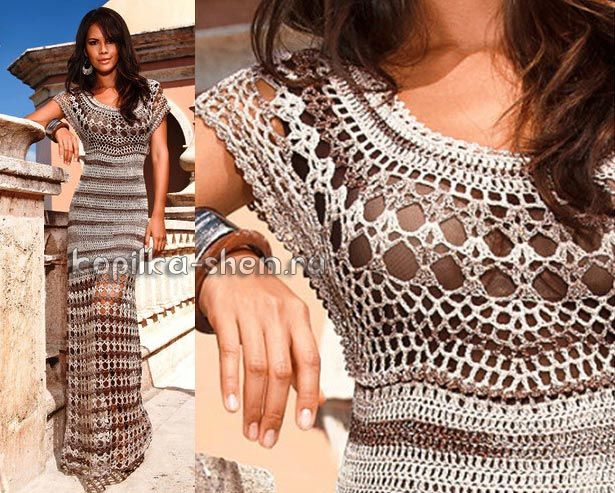Вязаные свободные платья схемы