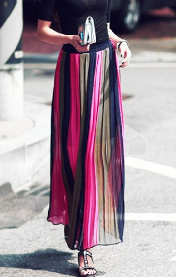 Maxi Chiffon Skirt