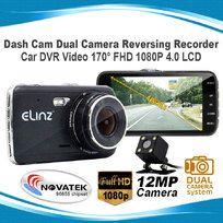 Dash Cam Dual Camera Reversing Recorder Car DVR Video 170° FHD 1080P 4.0 LCD