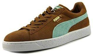 Puma Classic+ Men Round Toe Suede Brown Sneakers.
