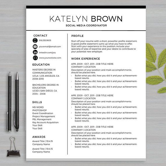 19 best Resume Templates Microsoft WORD images on Pinterest - resume writing templates