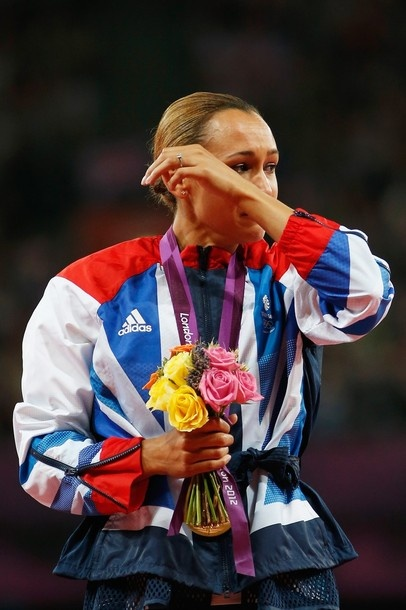 Jessica Ennis at her first olympics. Gold medal.