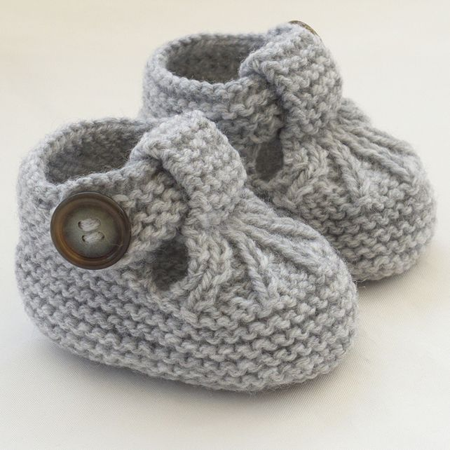 Hand Knitted Baby Shoes-Booties £5.25 More