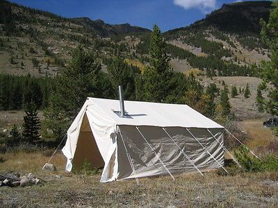 8x10x5ft Outfitter Canvas Wall Tent C&ing & Best 25+ Canvas wall tent ideas on Pinterest | Wall tent Tent ...