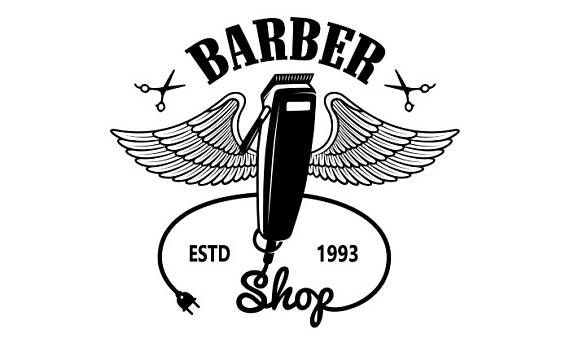 La peluquería Logo 5 Salon tienda corte pelo corte a novio