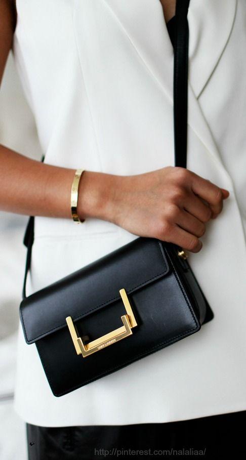 yves saint laurent black leather bag