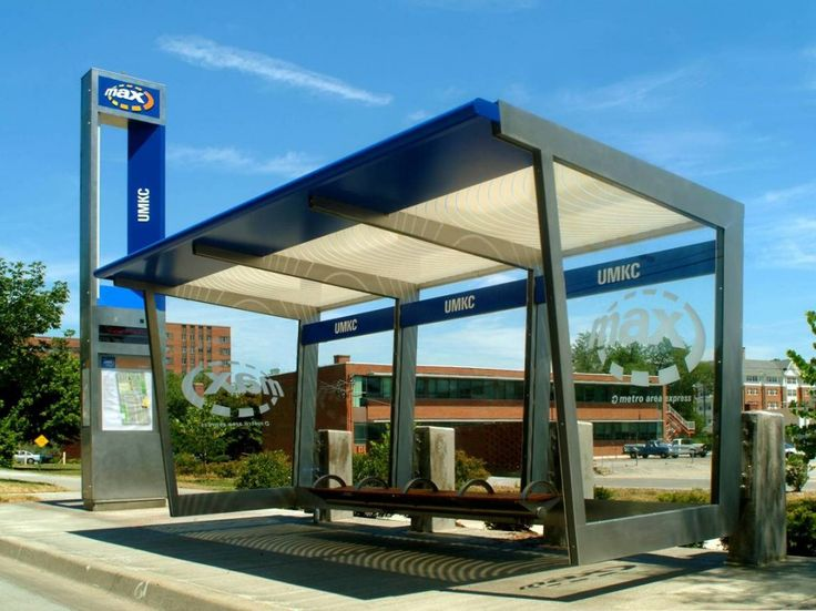 Kansas City MAX Station. That's a nice bus stop.