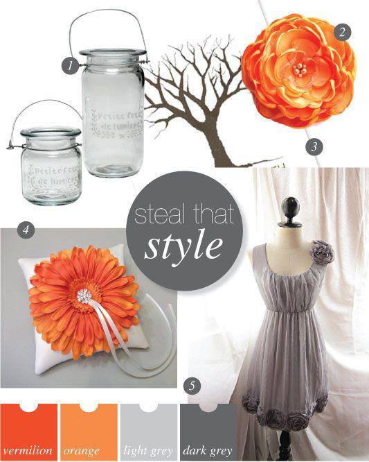 orange and grey .... Flowers