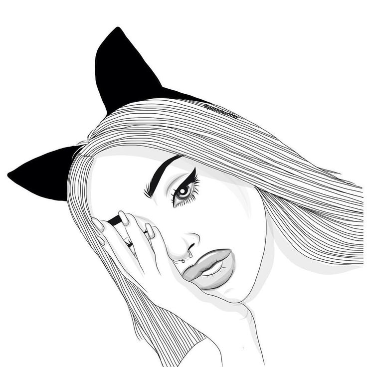 Line Drawing Instagram : Best outlines images on pinterest girl drawings