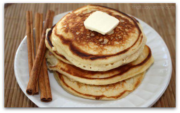 Cinnamon Pancakes: Yum Scrum, Num Num, Easy Cinnamon, Cream Cheese, Milk Tho, Cinnamon Pancakes, Cheese Glaze