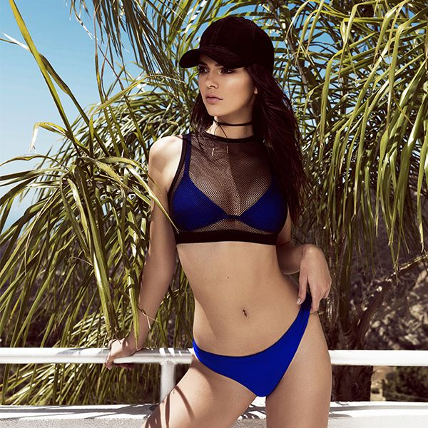 Kendall + Kylie Swim is here! Returning to Topshop with another exclusive collection, the Jenner sisters' new swimwear line brings their cool LA style to a collection of summer bikinis, swimsuits and cover-ups. Bright neoprene and logo waistbands give bikinis a sporty edge, while foil metallics, neon leopard prints and cut-out details bring glamour to the one-piece swimsuit. The cover-up is also key – think sheer leopard print slips and neon tassel skirts. Where's the pool party? #Topshop