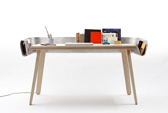 Homework Table With Unusual Gutter Design Looks Useful