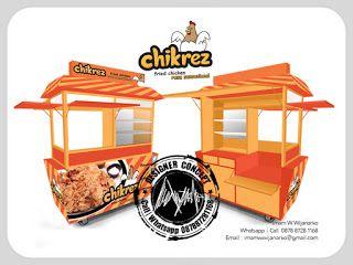 Desain Logo | Logo Kuliner |  Desain Gerobak | Jasa Desain dan Produksi Gerobak | Branding: Desain Gerobak Chikrez Fried Chicken