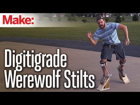 how to quick & easy digitigrade stilts for halloween