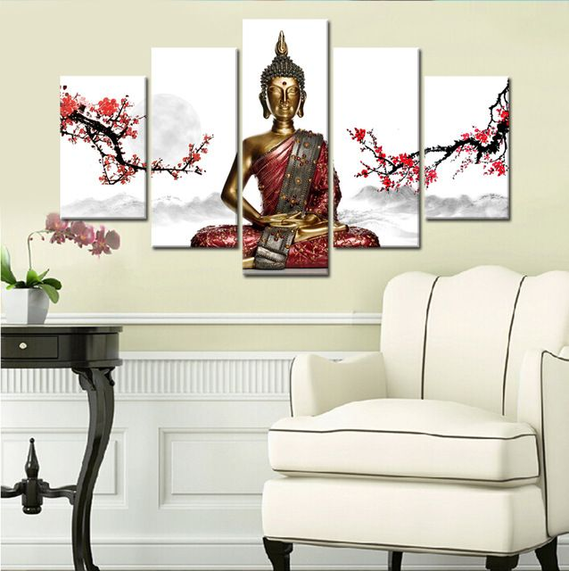 Cheap Canvas Painting, Buy Quality Painting For Living Room Directly From  China Painting Wall Art Suppliers: 5 Panels Artwork Canvas Painting Wall Art  ... Part 81