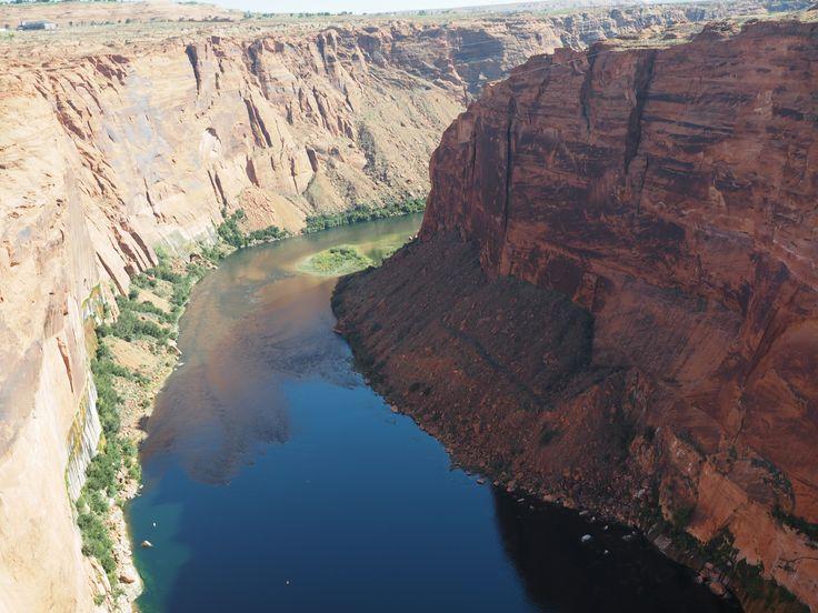 Colorado rivier aan de dam