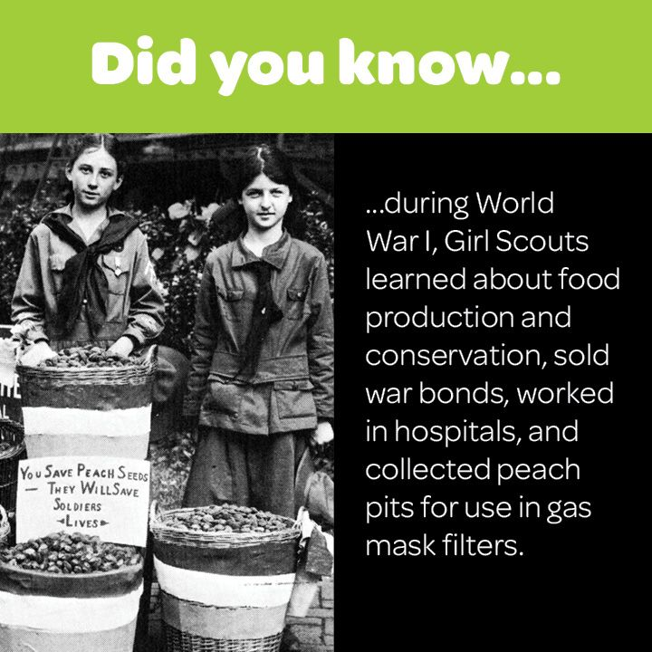 During World War I, Girl Scouts Learned About Food