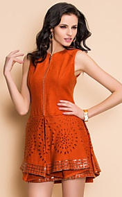 ts high-end papier gesneden stijl gevouwen tweed jurk met pailletten